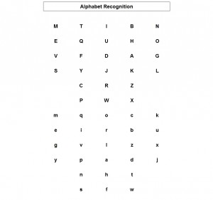 ABC recognition test