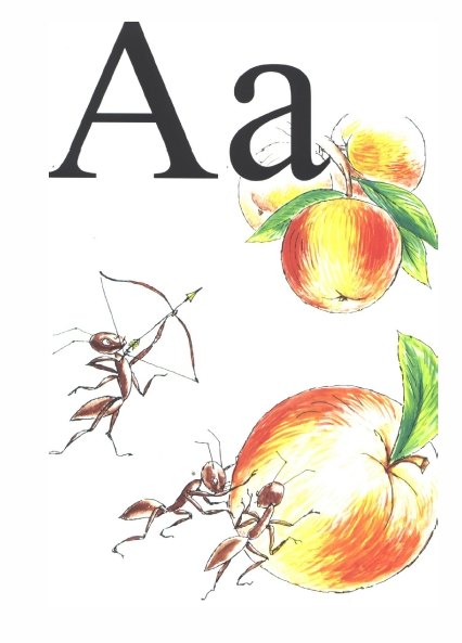 "English Alphabet Cards: Letter ""A"""