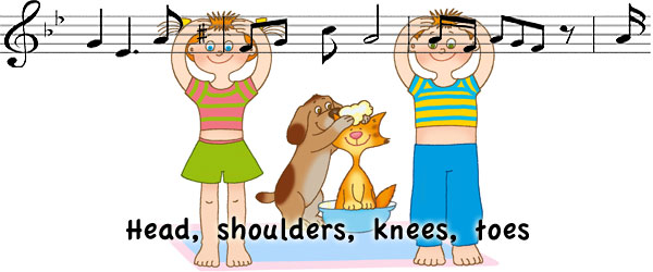 Head, shoulder, knees and toes - песенка для детей на английском