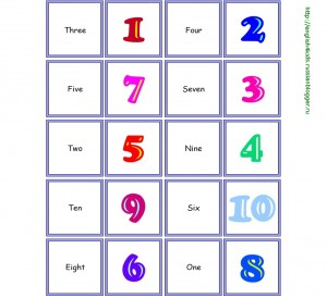 Domino: Numbers 1-10