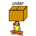 under (The girl is under the box)