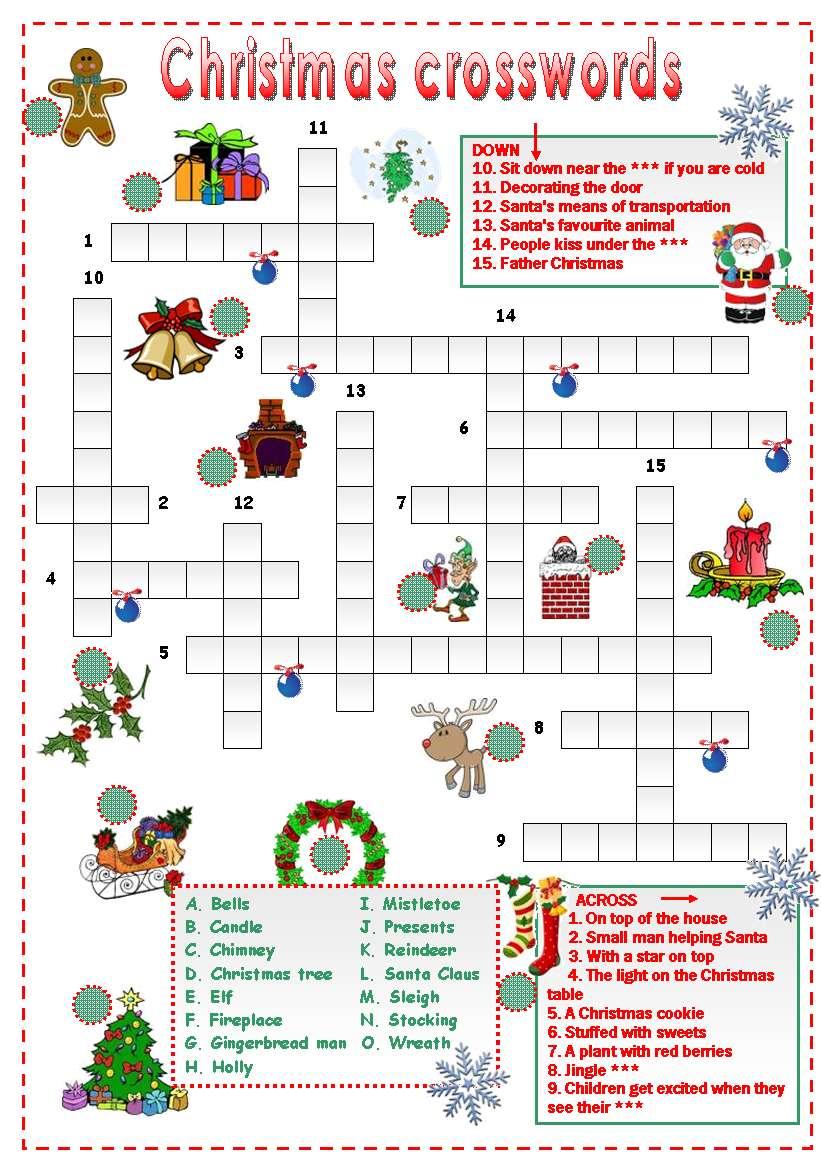 Кроссворд на новогоднюю тему 5 класс показать картинками