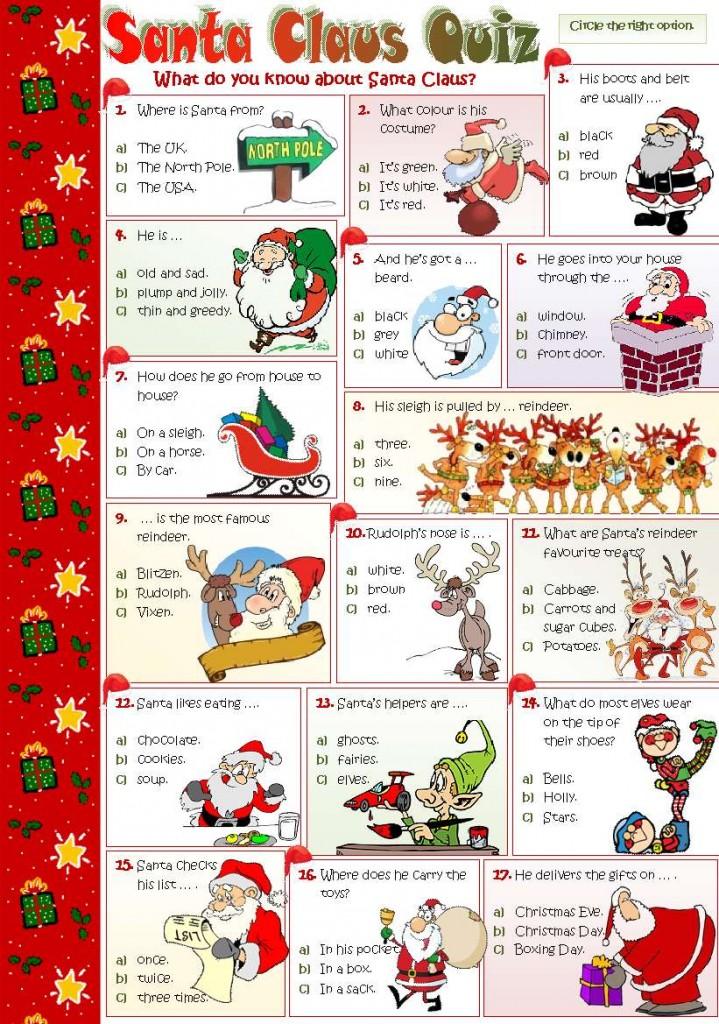 Christmas Quiz: Рождественская викторина на английском языке.