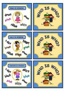 Английский детям. Игра в картинках: Угадай кто. Тема: одежда