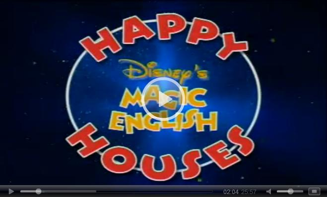Magic English Cartoons: Happy Houses