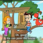 Gogo: We are building a tree house.