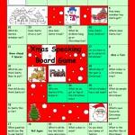 Настольная игра - викторина на английском языке по теме Рождество.