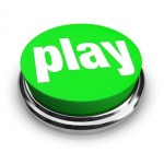 Play Word on Round Green Button