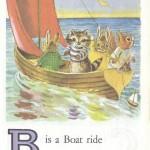 Карточки с английским алфавитом и стишками для детей: B.