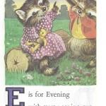 Карточки с английским алфавитом и стишками для детей: E.