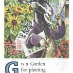 Карточки с английским алфавитом и стишками для детей: G.