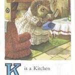 Карточки с английским алфавитом и стишками для детей: K.