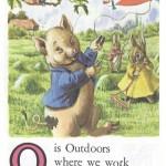 Карточки с английским алфавитом и стишками для детей: O.