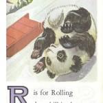 Карточки с английским алфавитом и стишками для детей: R.