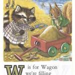 Карточки с английским алфавитом и стишками для детей: W.