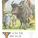 Карточки с английским алфавитом и стишками для детей: Y.