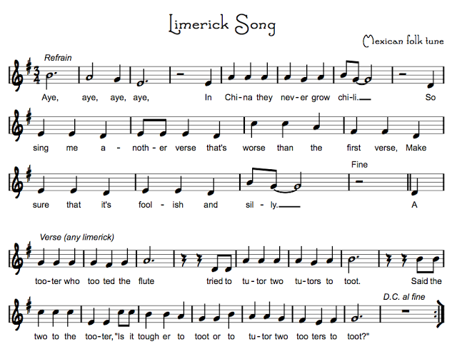 Limerick Song