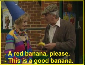 A red banana please