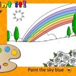 """Игра для детей на английском """"Paint the sky"""" (кликни, чтобы играть)"""