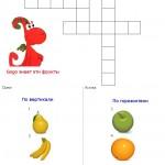 Gogo knows English fruits (crossword)