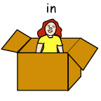 in (The girl is in the box)