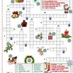 Christmas Crossword: Рождественский кроссворд на английском языке.