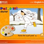 English4kids game: Paint winter clothes