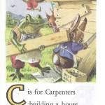 Карточки с английским алфавитом и стишками для детей: C.