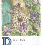 Карточки с английским алфавитом и стишками для детей: D.