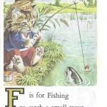 Карточки с английским алфавитом и стишками для детей: F.