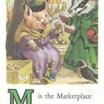 Карточки с английским алфавитом и стишками для детей: M.