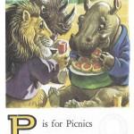 Карточки с английским алфавитом и стишками для детей: P.