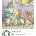 Карточки с английским алфавитом и стишками для детей: Q.