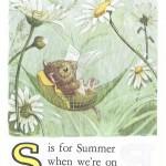 Карточки с английским алфавитом и стишками для детей: S.