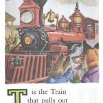Карточки с английским алфавитом и стишками для детей: T.