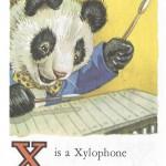 Карточки с английским алфавитом и стишками для детей: X.